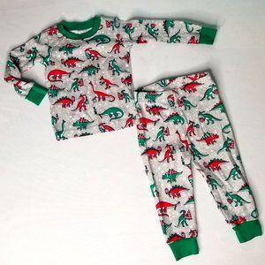 CHILDRENS PLACE Dinosaur christmas pajama set